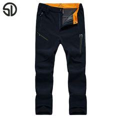 Big Size 4XL Men Pants 2016 New Winter Fleece Quick Dry Pants Breathable Thermal Waterproof Pants Trouser waterproof Pants