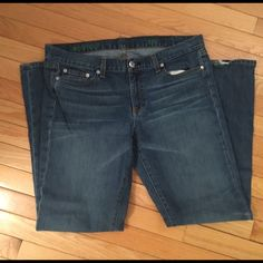 """J Crew jeans Boot cut.  EUC. From non smoking home. The bottom of the leg is worn - see pic 4. Suggested user. These are size short for 5'4"""" or under. SHORT. SIZE IS 33short J. Crew Jeans Boot Cut"""
