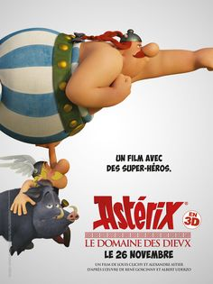 Astérix - Asterix: The Mansions of the Gods - The motion picture - All about the cartoon - Posters Asterix E Obelix, Albert Uderzo, Comic Book Drawing, Beste Comics, Cinema, Cartoon Posters, Cartoons, Cartoon Man, Film D'animation
