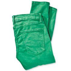 Emerald Green - jewel toned denim Current Elliot