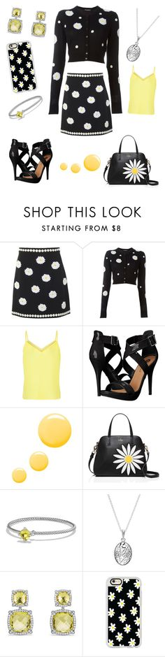 """""""Daisy"""" by office-girl ❤ liked on Polyvore featuring Dolce&Gabbana, Louche, Michael Antonio, Topshop, Kate Spade, David Yurman, Pandora and Casetify"""