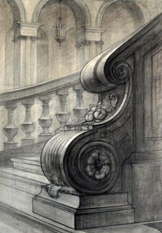 Drawing studies by students of St. Petersburg State Art and Industry Academy, Russia Ancient Greek Architecture, Baroque Architecture, Architecture Drawings, Pencil Art Drawings, Art Sketches, Peter Pan Wallpaper, Building Sketch, Object Drawing, Baroque Art