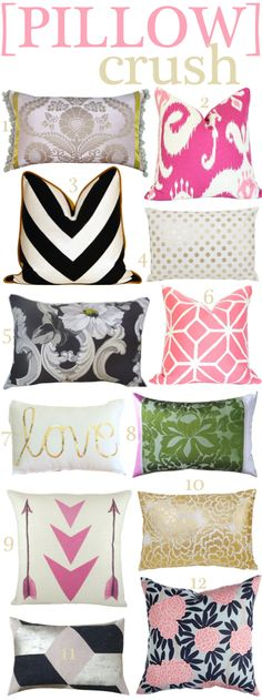 Amazing Pillows I'm crushing on right now!   thedoctorscloset.com
