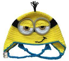 3636d4fc69119 MADRES HIPERACTIVAS  manualidades y DIY con y para niños  Gorro Minion a  Crochet