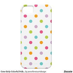 Cute Girly Colorful Polka Dots iPhone 5 Cases