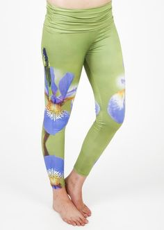 Green Iris Performance Leggings