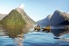 Check out the Milford Sound by kayak.