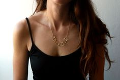 Gold filled chain gold necklace unique necklace by meravlevran, $58.00