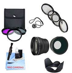 CPL Lens Hood for Select Panasonic Digital Cameras 4 0.45x HD Wide Angle w//Macro UltraPro Accessory Set Included 1 FL-D 58mm Deluxe Lens 2X Telephoto 10 Filters 2 Filter Bundle: UV