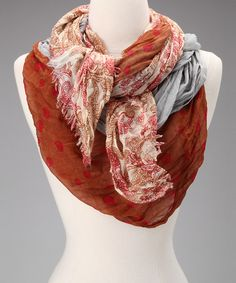 Take a look at this Rust Tissue Triple Silk-Linen Blend Scarf on zulily today!