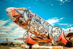 The Boneyard Project-->    Contemporary Artists transform WWII Aircraft graveyard into an urban playground at the Pima Air & Space Museum in Tuscon, Arizona.