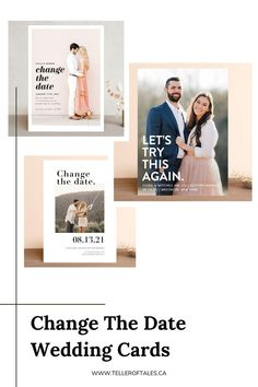 With many weddings are looking to be postponed. Notify your guests with Change The Date Wedding Cards, and keep everyone in the loop. Wedding Advice, Wedding Planning, Wedding Ideas, Wedding Stationery, Wedding Invitations, Amazing Weddings, Wedding Signage, Wedding Announcements, Invitation Design