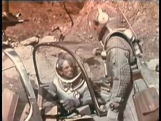 """Science fiction film """"Voyage to the Prehistoric Planet"""" (1965), directed by Curtis Harrington, cobbled together from an edit of the Russian film """"Planeta Bur"""" (1962) and some additional footage with Basil Rathbone, Faith Domergue, and Marc Shannon."""