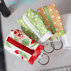 Custom Bauble Pod · Hilltop Custom Designs · Online Store Powered by Storenvy Key Pouch, Zipper Pouch, Sewing Crafts, Sewing Projects, Pouch Pattern, Inside Bag, Christmas Sewing, Card Patterns, Handmade Shop