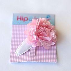 rose pom pom haarspeldje van hip & haar http://www.hipenhcaar.nl