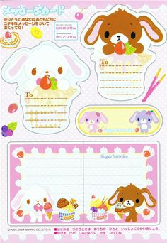 kawaii Sugarbunnies coloring book Sanrio Japan - Memo Pads - Stationery - kawaii shop modeS4u