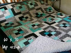Bento Box Quilt for Sale Bed Quilt Patterns, Handmade Quilts For Sale, Black And White Theme, Black White, Diy Handbag, Jellyroll Quilts, Unique Purses, Boxes For Sale, Queen Quilt