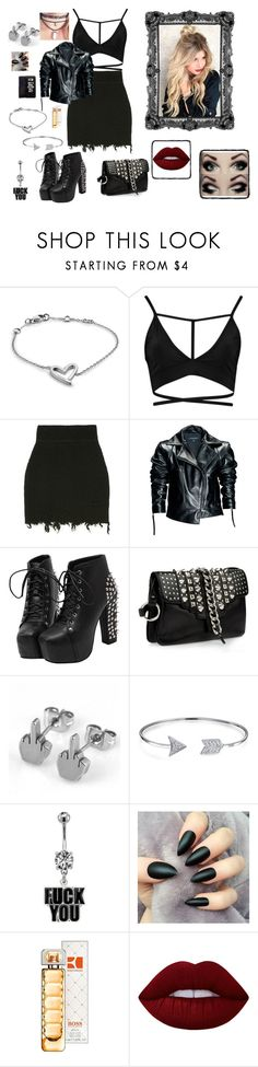 """""""Nr. 96"""" by deromymaus ❤ liked on Polyvore featuring Calvin Klein, Boohoo, Leka, Giuseppe Zanotti, Bling Jewelry, HUGO and Lime Crime"""
