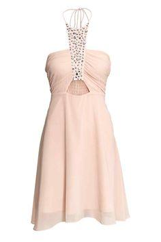 Krótka sukienka - Pudroworóżowy - ONA   H&M PL