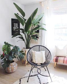 Urban jungle w wydaniu skandynawskim - Leaflo Design Bali Decor, Living Room Interior, Living Room Decor, Home Interior, Deco Jungle, Decoration Entree, Deco Nature, Home Decor Inspiration, Home And Living
