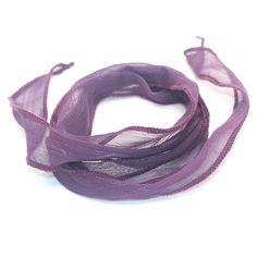 dark purple silk ribbon bracelet
