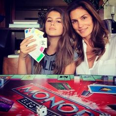 Cindy Crawford and Look-Alike 13-Year-Old Daughter Kaia. Let's take a minute to realize she's 48 years old!