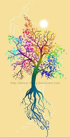 tree with colors tattoos - Google Search