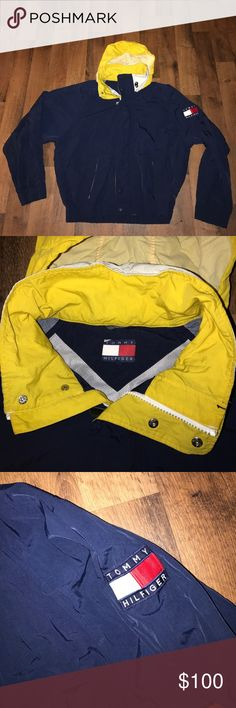 Vintage XL Tommy Hilfiger Big Patch Hooded Jacket Excellent condition Tommy Hilfiger Jackets & Coats Windbreakers