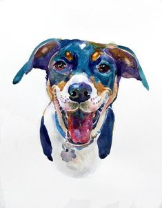 Custom Watercolor Pet Painting, 11x14inches