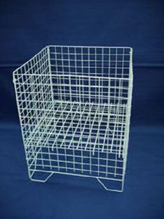 £24.99 + £8.49 UK delivery White Square Dump Bin Wire Basket Shop Display Shopfittings & Retail LARGE