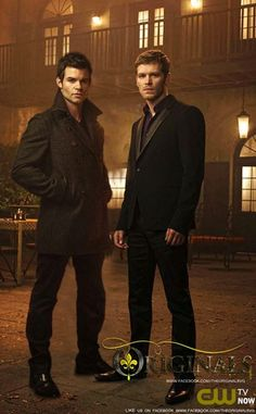 Daniel Gillies & Joseph Morgan Aka: Elijah and Niklaus Mikaelson.. There is just something about these two.