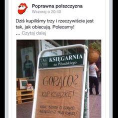 """Polubienia: 247, komentarze: 3 – Tak Czytam (@tak_czytam) na Instagramie: """"Znowu wylądowaliśmy na Poprawnej polszczyźnie 😍😍😍 nasz potykacz z Łodzi- tak bardzo adykwatny 😥😓📖…"""""""