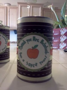 pop top cans- end of year teacher gifts 2011