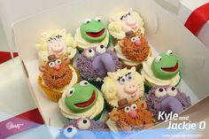 It's Kyle's birthday on Sunday, so he got a special visit from the Cupcake Princess! Check out the Muppet cakes, they are Kyle's favourite ever...they're amazing!