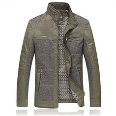 Men's Casual Stitching Color Jacket 2018 - $80.99