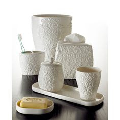 Versaille Porcelain Bath Accessory Collection | Overstock.com Shopping - The Best Prices on Bathroom Accessory Sets
