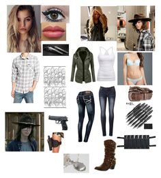 """""""Carl Grimes girl"""" by batgirl2018 ❤ liked on Polyvore featuring RVCA, Soda, American Eagle Outfitters, LE3NO, H2O+ and Holster"""