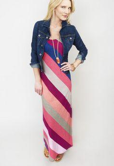 Pearl Stripe Maxi Dress