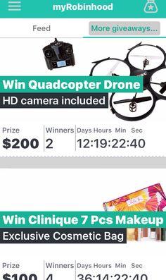 MyRobinHood #Contest App   https://irobinhood.onelink.me/2131877463?pid=iosapp&c=invitation&af_dp=iRobinHood%3A%2F%2Fflow%2Finvited%2F5739152d8ee6e503141450ac&af_web_dp=http%3A%2F%2Fmyrobinhood.net%2F%3FReferral%3D5739152d8ee6e503141450ac ☘ Check out this giveaways App!