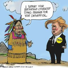 Native American Immigrant Threat Quote Political Humor Postcard