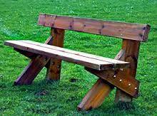Resultado de imagen para bancos para parques infantiles de madera y bloque