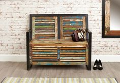 Industrial Chic Monks Bench | Hampshire Furniture