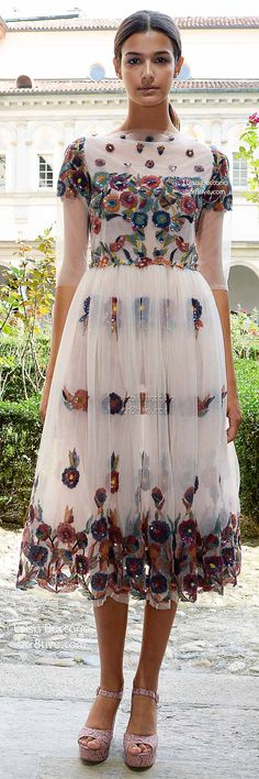 Luisa Beccaria Spring 2015 | light-weight dress with floral applique