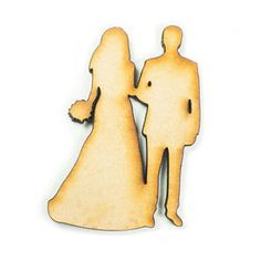 MDF Wood Wooden Shape Shapes Bride Groom Couple Cutout Craft Wedding Decor Cost €1.98+  postage €2.63