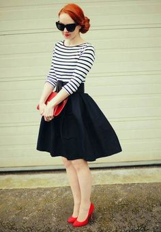 Trendy Outfit With Stripes Top Inspirations read more http://www.ferbena.com/trendy-outfit-stripes-top-inspirations.html