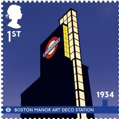anniversary of the London Underground - Issued Jan Boston Manor Art Deco Station Suburban expansion of the Piccadilly Lines in the and led to the construction of many iconic Art Deco stations. Royal Mail Stamps, Uk Stamps, Postage Stamps Uk, London Underground, Underground Tube, Happy Birthday, Kingdom Of Great Britain, London Transport, London Art
