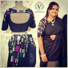 Silk saree blouse with a twist. This Valentine s I dedicate to all my lovely ladies This one is quite special to me. My favourite Mrs.Kavya. You look fabulous.  12 February 2017