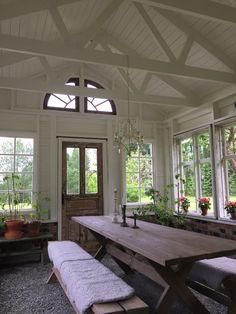 Outdoor Bathtub, Garage Interior, Garden Studio, Glass House, Greenhouses, Rustic Interiors, Sheds, Sunroom, Future House