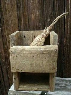 Primitive Antiques, Country Primitive, Primitive Decor, Brooms And Brushes, Willow Wood, Prim Decor, Wall Boxes, Dry Goods, Wood Bowls