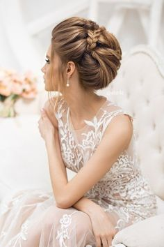 Coiffure De Mariage : 18 Wedding Updo Hairstyles That Are Beautiful From Every Angle Simple Wedding Hairstyles, Wedding Updo, Bride Hairstyles, Headband Hairstyles, Trendy Hairstyles, Hairstyle Ideas, Wedding Dress, Wedding Ceremony, Wedding Hair Inspiration